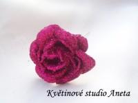 Květ třpytivý LUX fuchsiový...