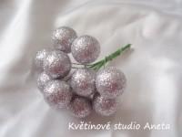 Vánoční kouličky třpyt stříbrné...
