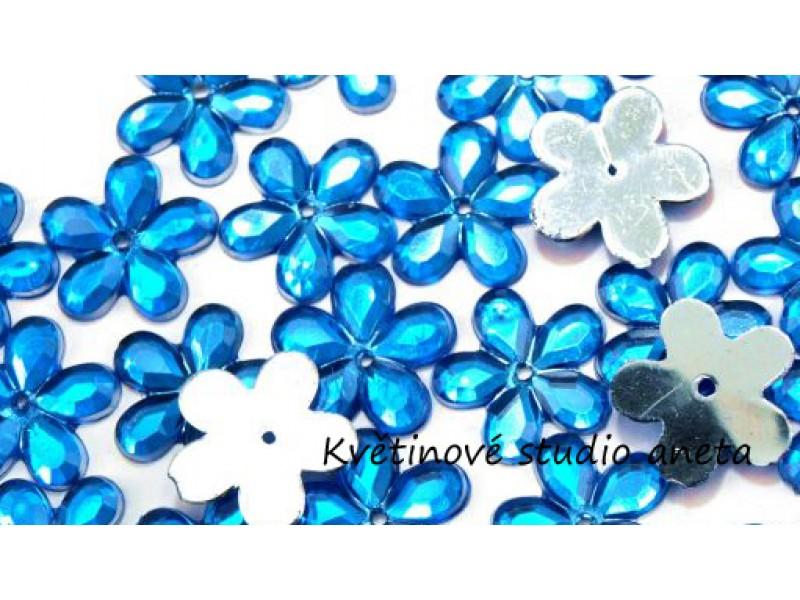 Květinka plast modrá