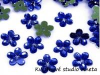 Květinka plast modrá královsky...
