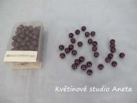 Korálky 8mm/144ks tmavě fialove...