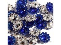 Štrasové květinky královsky modré...