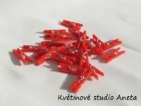 Kolíček plast  červený mini...