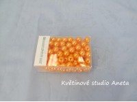 Korálky 8mm/144ks oranžové...
