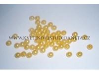 Korálky 5mm žluté 100ks...