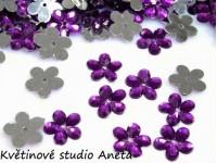 Květinka plast fialová ...