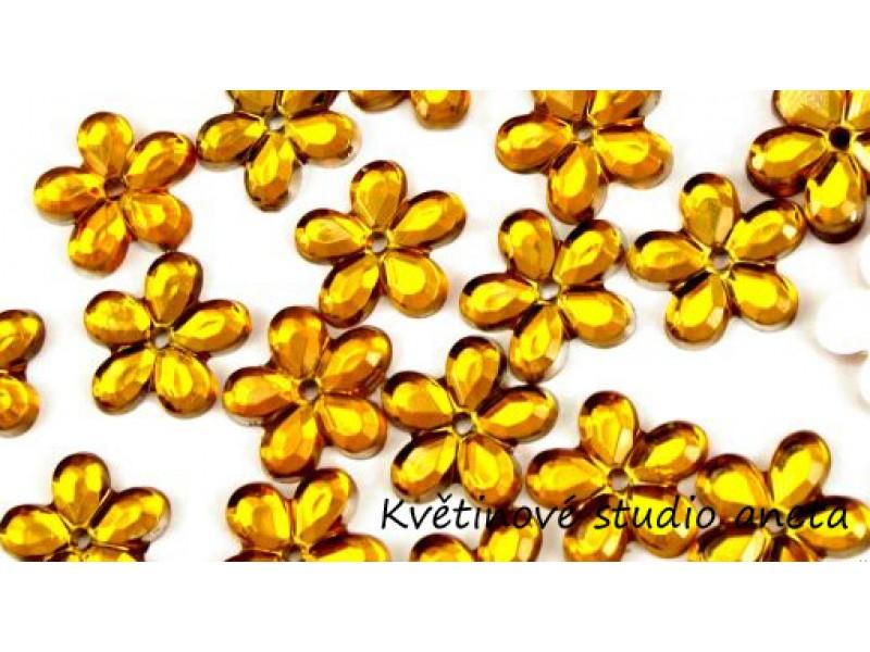 Květinka plast zlatá