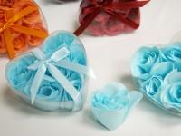 Mýdlová poupátka růží modrá...