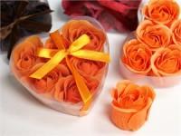 Mýdlová poupátka růží oranžová...