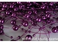 Perličky na silonu fialové tmavé ...