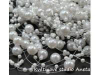 Perličky na silonu bílé...