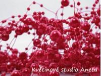 Perličky na silonu červené...