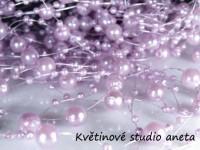 Perličky na silonu fialové ...