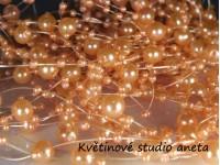 Perličky na silonu oranžové EKO 10ks...