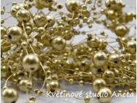 Perličky na silonu zlaté...