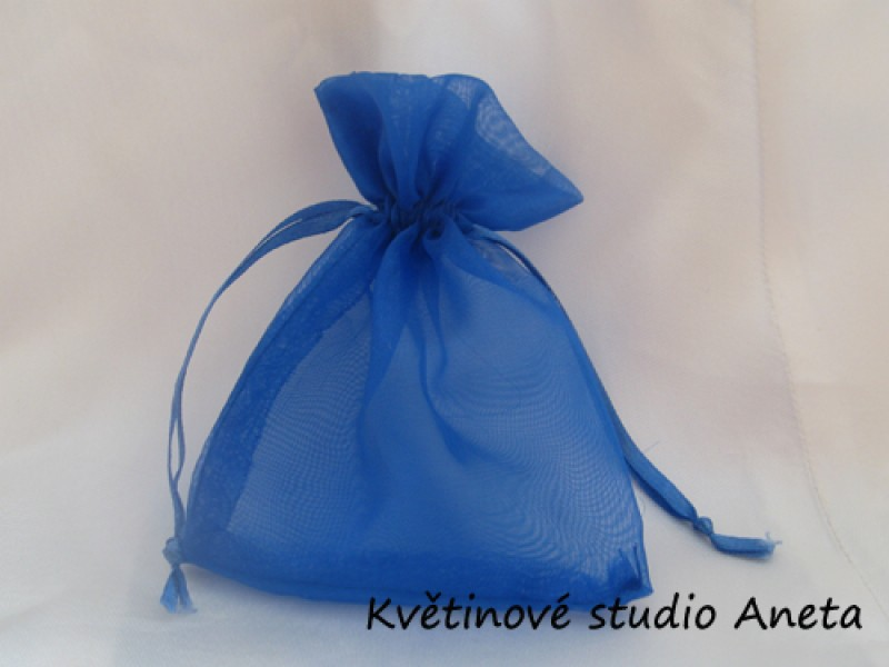 Šifonový pytlíček modrý královsky