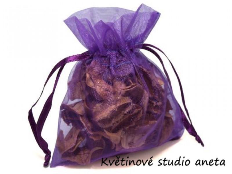 Šifonový pytlíček tmavě fialový