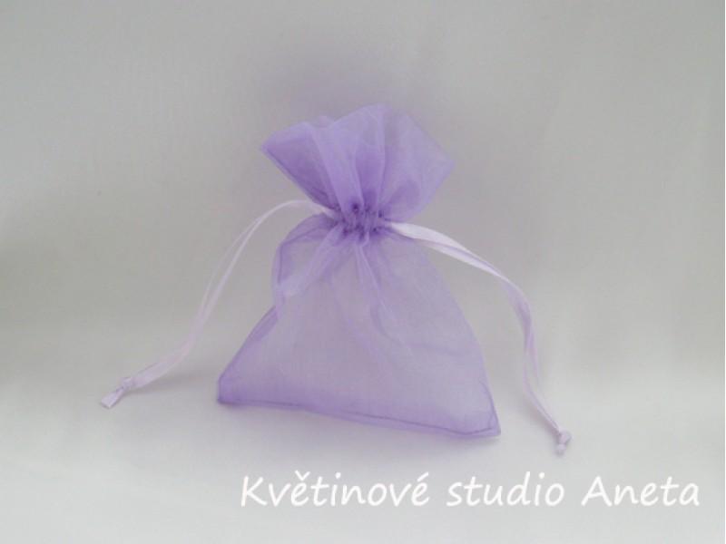 Šifonový pytlíček fialový lila