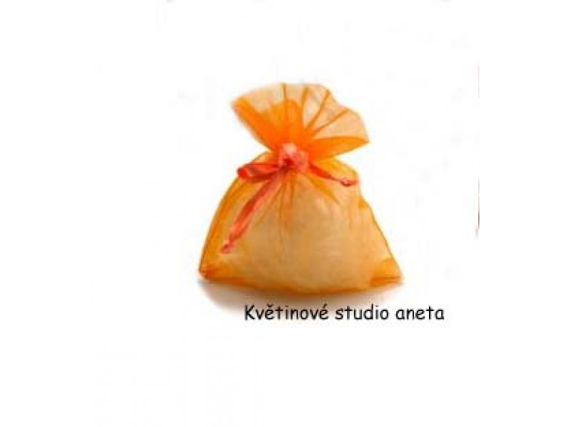 Šifonový pytlíček oranžový
