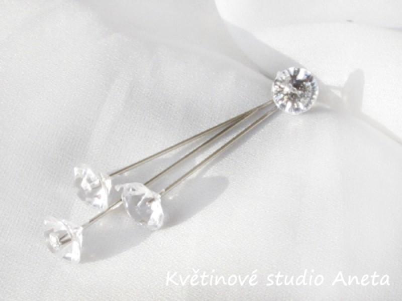 Špendlík s diamantem malý