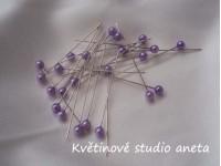 Špendlík malý fialový lila...