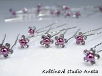 Vlásenka květinka perlička fialová mini...