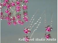Vlásenka květinka perlička fuchsiová...
