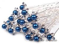 Vlásenka květinka perlička modrá královsky...