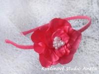 Čelenka s květinou fuchsiová...