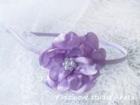 Čelenka s květinou fialová...