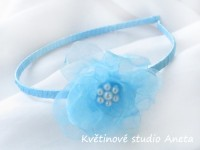 Čelenka s květinou modrá...