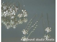 Vlásenka květinka perlička krystal...