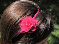 Čelenka s květinou fuchsiová šifonová...